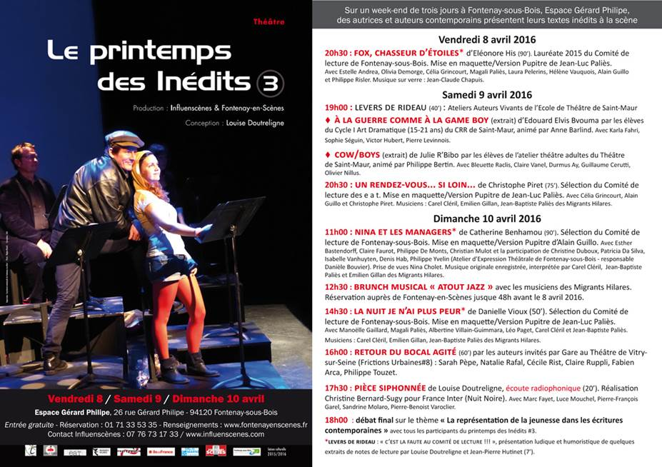 Printemps des Inédits#3 2016 FLYER ph